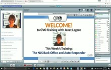 GVO Academy with Janet Legere - The NLS Back Office