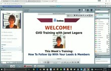 GVO Academy with Janet Legere - How To Follow Up